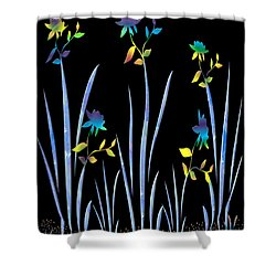 Flower Dance Shower Curtain by Kurt Van Wagner