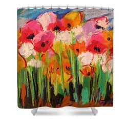 Flowers Shower Curtain by John Williams