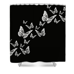 Fly Away Shower Curtain by Lourry Legarde