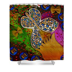 Fly With Me In Love Shower Curtain by Pepita Selles