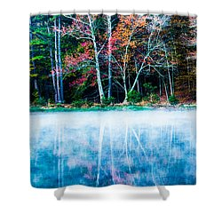 Fog On The Lake Shower Curtain by Parker Cunningham