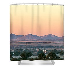 Foggy Harlem Bottom Shower Curtain by Todd Klassy