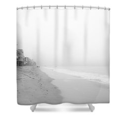 foggy Malibu Beach  Shower Curtain by Ralf Kaiser