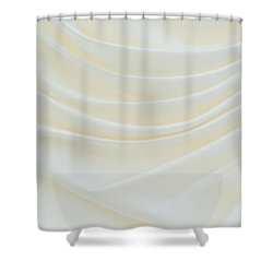Folded Fabric Waves Shower Curtain by Meirion Matthias
