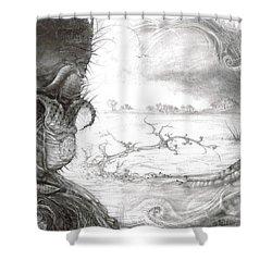 Fomorii Swamp Shower Curtain by Otto Rapp