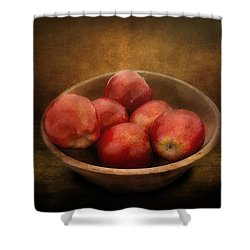 Food - Apples - A Bowl Of Apples  Shower Curtain by Mike Savad