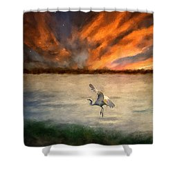 For Just This One Moment Shower Curtain by Lois Bryan