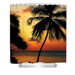 For You. Dream Comes True. Maldives Shower Curtain by Jenny Rainbow