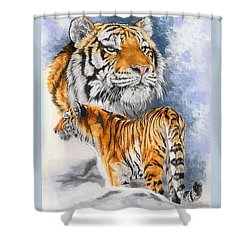 Forceful Shower Curtain by Barbara Keith