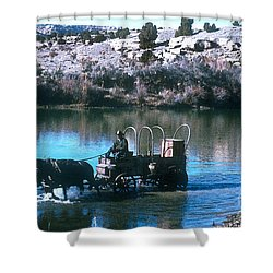 Ford The River Shower Curtain by Jerry McElroy
