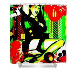 Forever Pinup I Shower Curtain by Chris Andruskiewicz