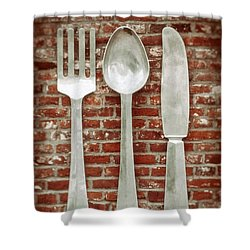 Fork Spoon Knife Shower Curtain by Wim Lanclus