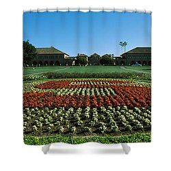 Formal Garden At The University Campus Shower Curtain by Panoramic Images