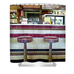 Four Aces Diner Shower Curtain by Edward Fielding