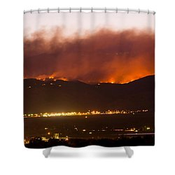 Fourmile Canyon Fire Burning Above North Boulder Shower Curtain by James BO  Insogna