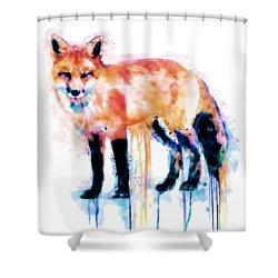 Fox  Shower Curtain by Marian Voicu