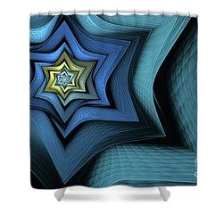 Fractal Star Shower Curtain by John Edwards