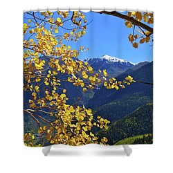 Framed By Fall Shower Curtain by Scott Mahon
