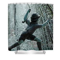 Frankenmuth Fountain Boy Shower Curtain by LeeAnn McLaneGoetz McLaneGoetzStudioLLCcom