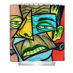 Bride of frankenstein shower curtain