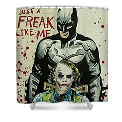 Freak Like Me Shower Curtain by James Holko