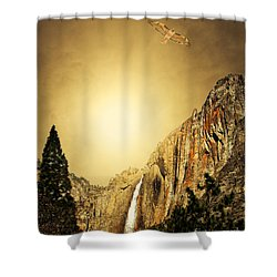 Free To Soar The Boundless Sky . Portrait Cut Shower Curtain by Wingsdomain Art and Photography