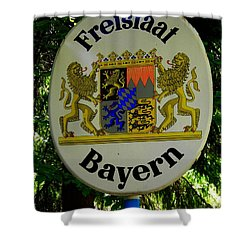Freistaat Bayern Shower Curtain by Juergen Weiss
