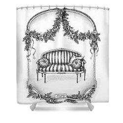 French Country Sofa Shower Curtain by Adam Zebediah Joseph