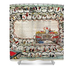 French Game Board, 1791 Shower Curtain by Granger
