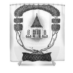 French Garden House Shower Curtain by Adam Zebediah Joseph