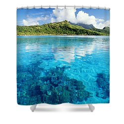 French Polynesia, View Shower Curtain by Joe Carini - Printscapes