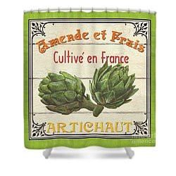 French Vegetable Sign 2 Shower Curtain by Debbie DeWitt