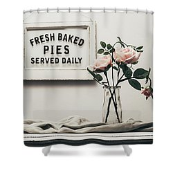 Fresh Baked Shower Curtain by Kim Hojnacki