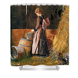 Fresh Eggs Shower Curtain by Winslow Homer