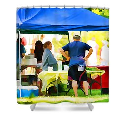 Fresh Organic Food At The Local Farmers Market Shower Curtain by Lanjee Chee