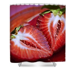 Fresh Strawberries Shower Curtain by Ray Laskowitz - Printscapes