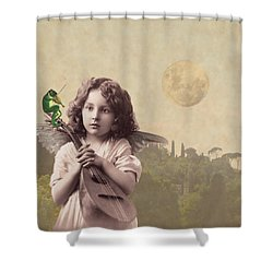 Frog Chorus Shower Curtain by Olga Snell
