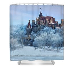 Frosted Castle Shower Curtain by Lori Deiter