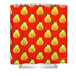 Fruit 03_pear_pattern Shower Curtain by Bobbi Freelance