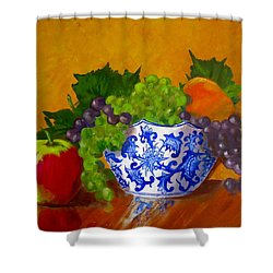 Fruit Bowl II Shower Curtain by Pete Maier