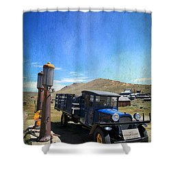 Fuelin' Up Shower Curtain by Laurie Search
