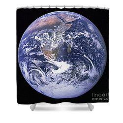 Full Earth Shower Curtain by Stocktrek Images