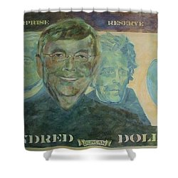 Funny Money Shower Curtain by Claire Gagnon