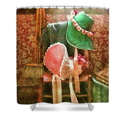 Furniture - Chair - Bonnets  Shower Curtain by Mike Savad