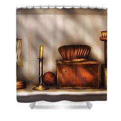 Furniture - Shelf - A Collection Of Curious Items Shower Curtain by Mike Savad
