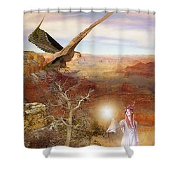 Galdorcraeft Shower Curtain by John Edwards