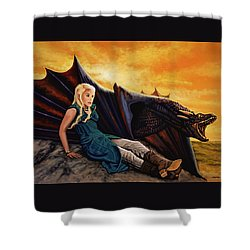Game Of Thrones Painting Shower Curtain by Paul Meijering