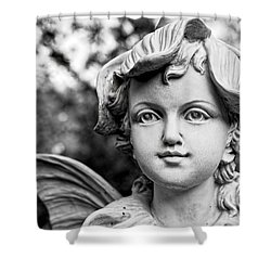 Garden Fairy - Bw Shower Curtain by Christopher Holmes