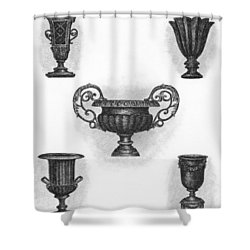 Garden Urns Shower Curtain by Adam Zebediah Joseph