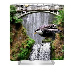 Gathering Of Eagles Shower Curtain by Constance Woods